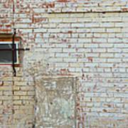 Aged Brick Wall With Character Art Print