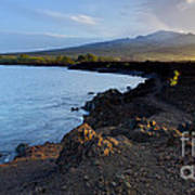 Ahihi Preserve And Haleakala Maui Hawaii Art Print