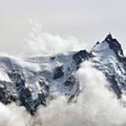 Aiguille Du Midi Out Of Clouds Art Print