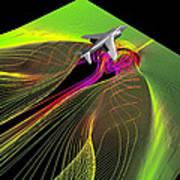 Air Flow Around An Aircraft Art Print