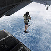 Air Force Pararescueman Jumps Art Print