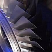 Aircraft Engine Fan Blades. Art Print