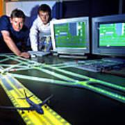 Airfield Lighting Simulation Art Print