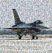 Airforce F-4866 Mosaic  Art Print by Darleen Stry