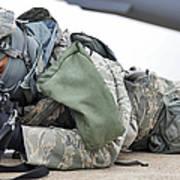 Airman Provides Security At Whiteman Art Print