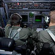 Airmen At Work In A Mc-130h Combat Art Print