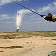Airmen Conduct A Controlled Detonation Art Print