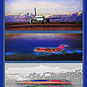 Airport - Airline Triptych Art Print by Steve Ohlsen