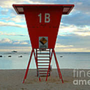Ala Moana Lifeguard Station Art Print