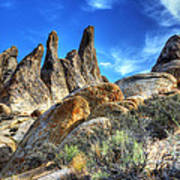 Alabama Hills Granite Fingers Art Print by Bob Christopher
