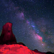 Alabama Hills Tower And Milky Way Art Print by Bill Wight CA