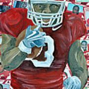 Alabama Running Back Art Print by Michael Lee