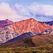 Alaska Range And Fall Colours Art Print