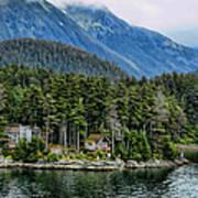 Alaskan Mountain Retreat Art Print