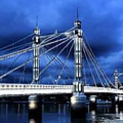 Albert Bridge London Art Print by Jasna Buncic