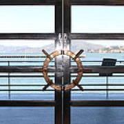 Alcatraz Island The Doors Of The Maritime Museum In San Francisco California . 7d14086 Art Print