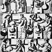 Alchemy Preparations, 17th Century Art Print