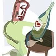 Alcoholism, Conceptual Artwork Art Print