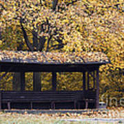 Alcove In The Autumn Park Art Print