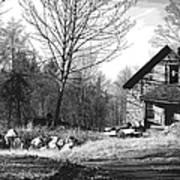 Aldergrove Farmhouse Art Print