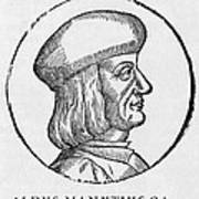 Aldus Manutius, Italian Printer Art Print