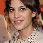 Alexa Chung At Arrivals For Inglourious Art Print