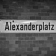 Alexanderplatz Berlin U-bahn Underground Railway Station Name Plates Germany Art Print by Joe Fox