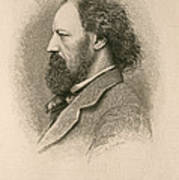 Alfred, Lord Tennyson, English Poet Art Print