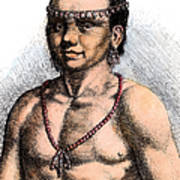Algonquian Man, 1645 Art Print