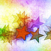 All The Stars Of The Rainbow Art Print
