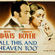 All This And Heaven Too, Charles Boyer Art Print