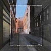 Alley Front Street Layered Art Print