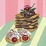 Almond Cake Art Print