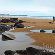 Alone On The Beach Art Print