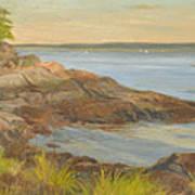 Along The Sound Shore Art Print