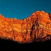 Alpenglow In Zion Canyon Art Print