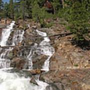 Alpine Creek Falls Lake Tahoe Art Print
