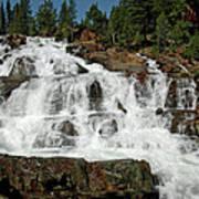 Alpine Falls Glen Alpine Falls Lake Tahoe Art Print