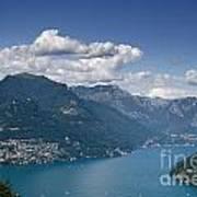 Alpine Lake And Mountains Art Print
