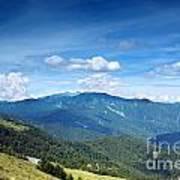 Alpine Panorama In Taiwan Art Print