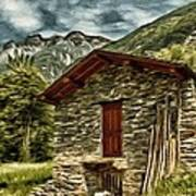 Alpine Ruins Art Print
