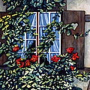 Alsace Window Art Print by Scott Nelson