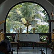 Altar Amid Palms Art Print