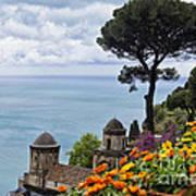 Amalfi Coast Spring Vista Art Print
