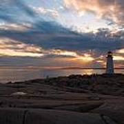 Amazing Sunset At Peggy's Cove Art Print by Andre Distel