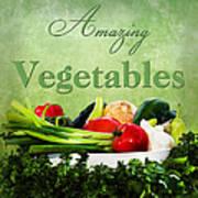 Amazing Vegetables Art Print