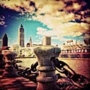 #amazing View Of #dowtown #cleveland Art Print
