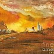 Amber Sunset Art Print