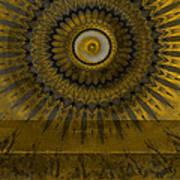 Amber Wheel I Art Print by Ricki Mountain