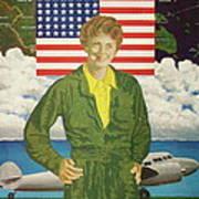 Amelia Earhart Calendar Art Art Print